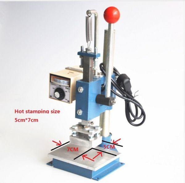 Best Quality! HOT SALE 220V/110V Manual Hot Foil Stamping Machine,leather printer,Creasing machine,marking press,embossing machine