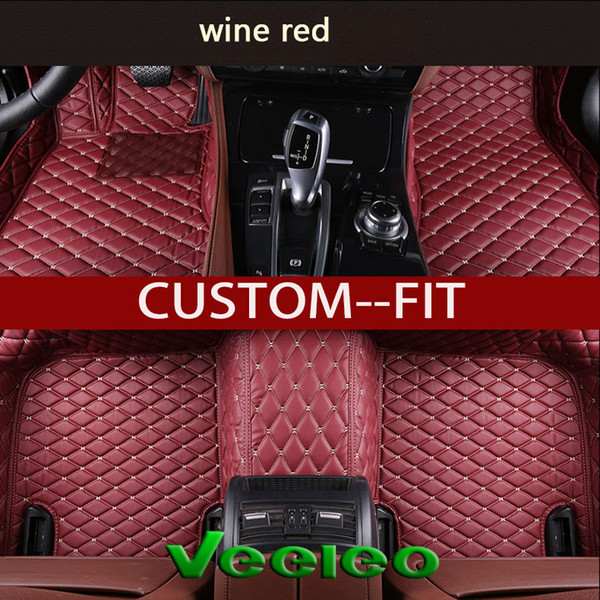 Veeleo Custom-Fit Leather Car Floor Mats for Jeep All Series All Weather Waterproof Anti-slip 3D Car Mats Carpets Liner