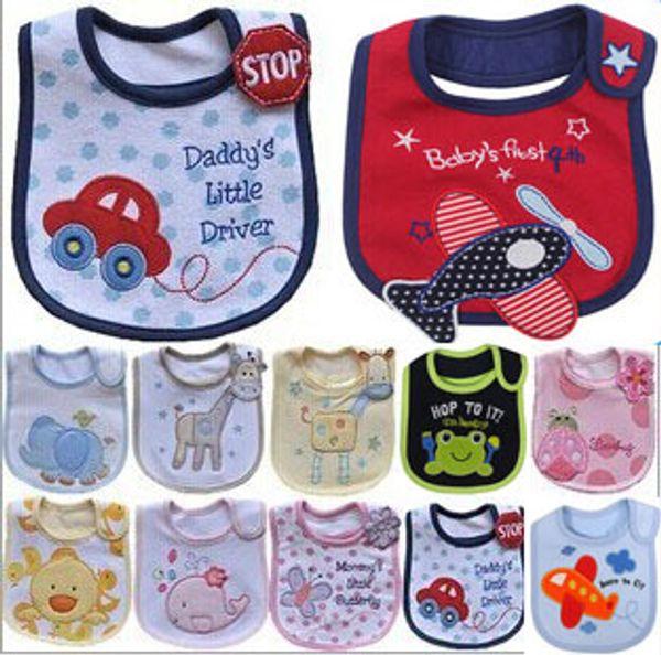 2018 Rushed Promotion Multicolor Multi Unisex Babador free Shipping Bib Animal Style Cotton Waterproof Baby Cartoon Slobber Towel