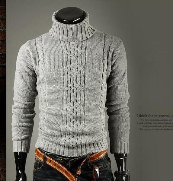 best selling Men Pullover Men Brand Turtleneck Winter Pull Homme Wool Sweater Men Plus Size Patterns Mens Sweaters