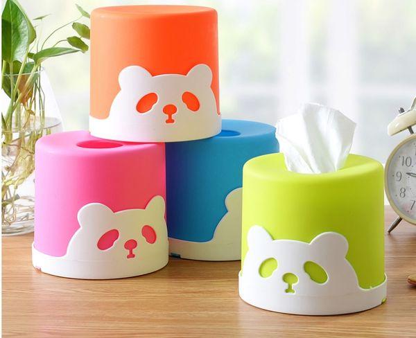 Großhandel-Haushaltsartikel Kunststoff Papiertuch Car Home Kreis geformte Tissue Box Container Handtuch Serviette Tissue Holder