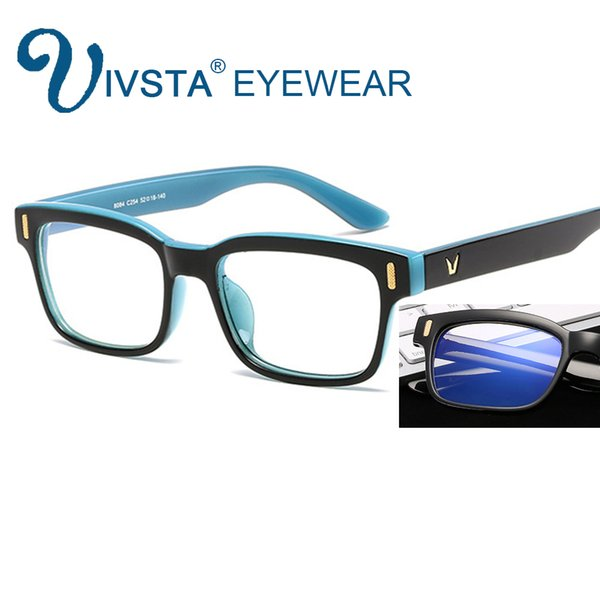 IVSTA Computer Glasses Gaming Eye Strain Relief Eyewear Men Anti Glare Anti Blue Ray radiation UV400 yellow lenses LOL Custom Logo 8084