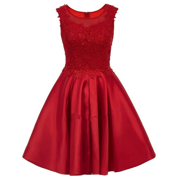 Pink Short Homecoming Dresses Cheap 2017 New Scoop Mini Stain A Line Lace Applique Beaded Mini Party Short Cocktail Plus Size Prom Dresses