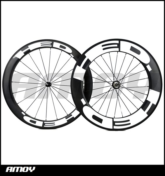 Free shipping 25mm width hed Front 60mm with Rear 88mm Clincher Road Bike Carbon wheels 700C Powerway hubs pillar spokes