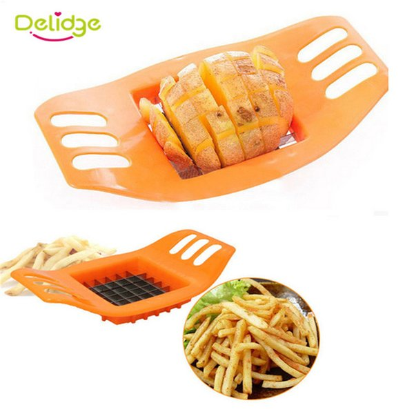 Delidge 1 pc Potato Slicer Cutter Stainless Steel French Fry Chopper Chips Making Tool Fries Cutter Potato Vegetable Slicer