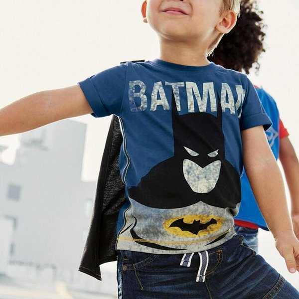 2018 Hot Sale Brand Designer Baby Boys T Shirts Cartoon Batman