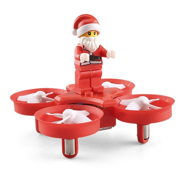 JJRC H67 Flying Santa Claus Mini RC Drone Helicopter 2.4G 4CH 6-Axis RC Quadcopter Toy Brick Christmas Gift for Kids