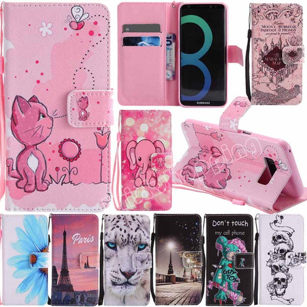 For iPhone X 8 7 6 Plus Stand Leather Wallet Flip Case Cover Mobile Phone Bag Shell For Samsung Galaxy A3 A5 J3 J5 J7 S8 S7 S6 S5 S4 S3