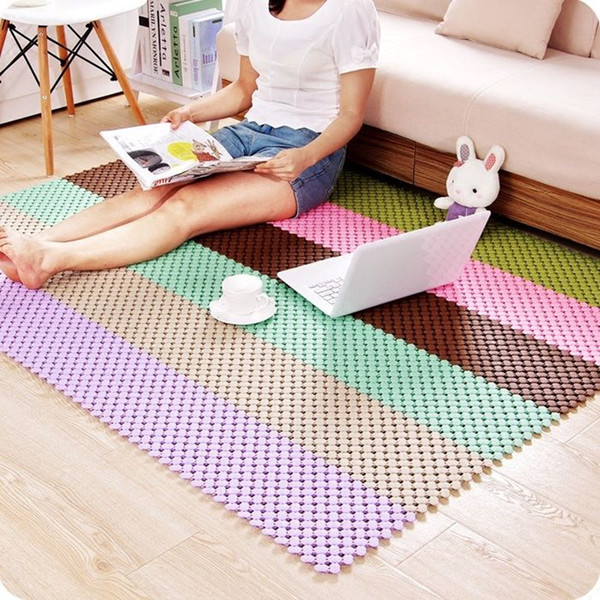 Wholesale- High quality Removable Bathroom Non-slip Pad Massage for Stitching Anti Slip Shower Mat Bathroom Kitchen accessories.