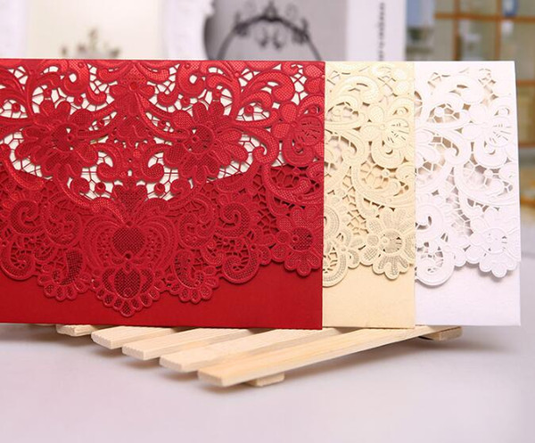 New Champagne Floral Laser Cut Wedding Invitations Table Card Seat Card Place Card For Wedding Favors And Gifts 100pcs DHL Free Shipping