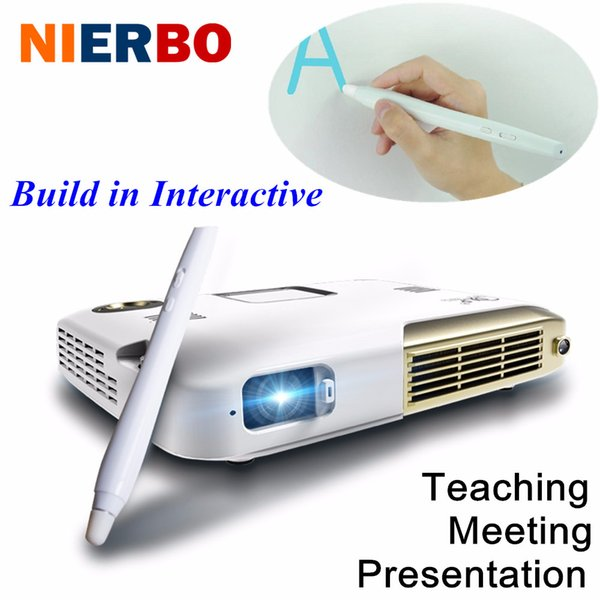 Wholesale- 4K Video Projector Electronic Interactive Teaching Android Wifi Mini Projector Octa Core Pen Touchpad School Office Presentation