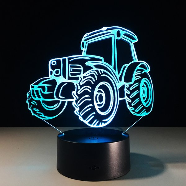 2017 3D Camion Night Lamp 3D Lampe Optique # 5 Batterie DC 5V En Gros Dropshipping Livraison Gratuite