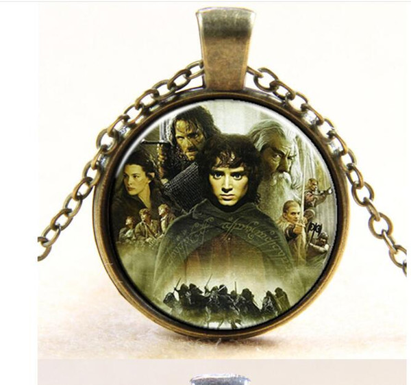 Free Shipping Movie series Europe and the United States hot Hobbit Time Gem Necklace #3261 Q1