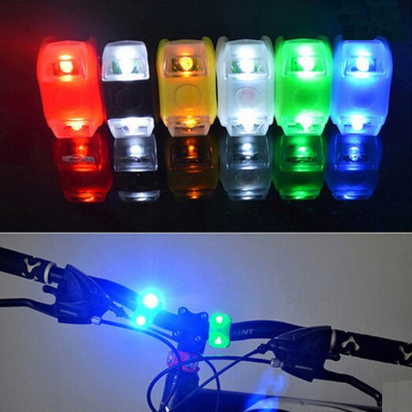 best selling 2led mountain bike taillights sixth generation 6-generation frog lights silicone lights led warning lights bike headlights accessor ZJ0074