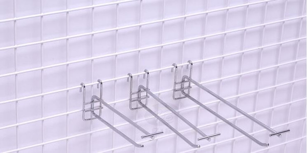 10cm lunghezza Rete metallica reti gancio gancio merchandising espositore scaffali accessori