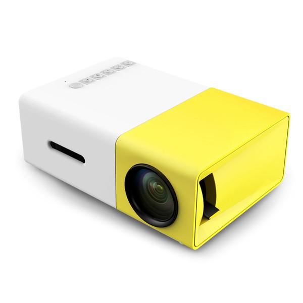 Proiettore LED portatile YG300 Cinema Theater PCLaptop Proiettore mini tasca Pocket USB / SD / AV / HDMI con pacchetto di vendita DHL 5pcs gratuito