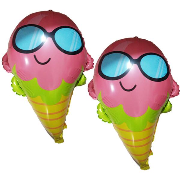 Hot Praia fontes do partido balões frescos folha Ice Cream 50pcs Havaí decorações da festa de aniversário crianças Globos fontes do partido de casamento