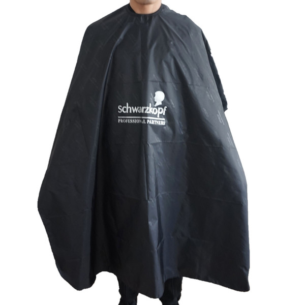 Popular Salon Barber Cape In XL Size Professional Black Mens Head Hair Cutting Cape Gown For Hair Perming Coloring
