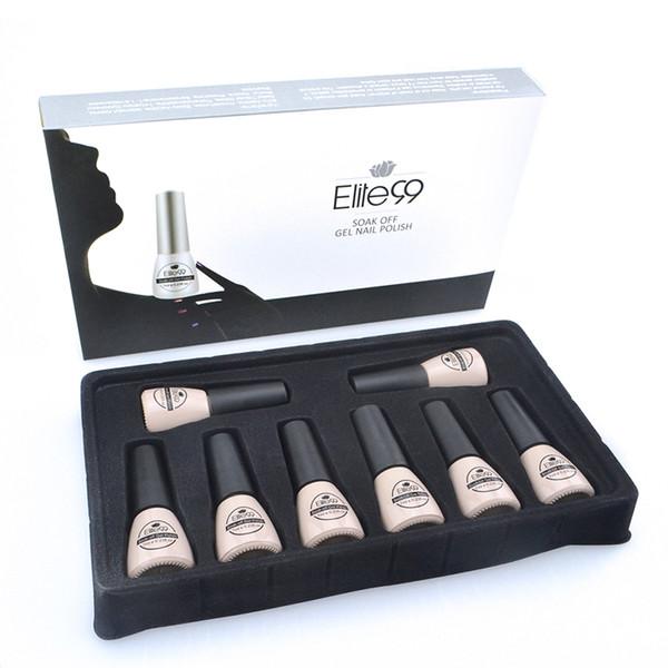 Venta al por mayor - Elite99 Amazing Color Gel Nails Set completo Gel UV Kit manicura Brillo Esmalte Pintura Cualquiera 1 Caja Pure Soak Off UV LED Uñas de gel 7ML