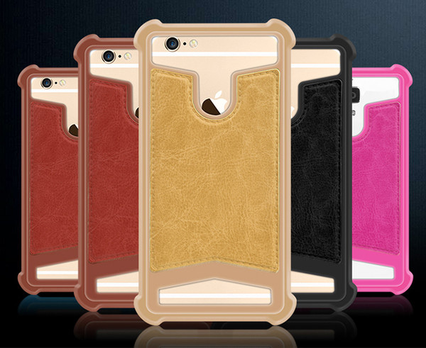 """Universal Silicone Cell Phone Case Drop Resistance Silicon Bumper Case Mobile Phone Protective Back Covers Suitable for Smartphone 4.0-5.7"""""""