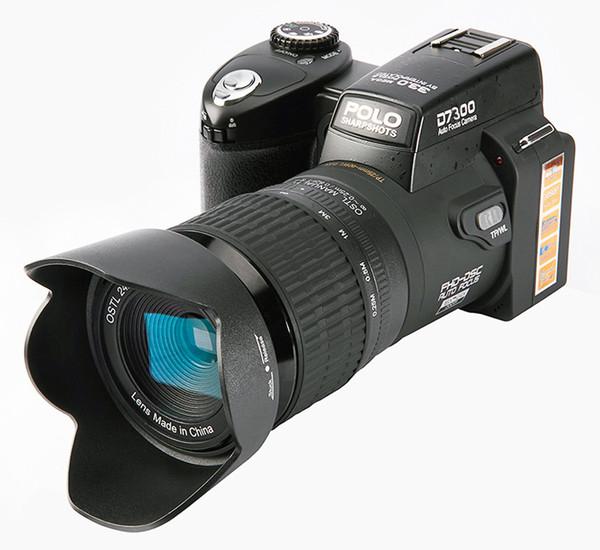 2017 PROTAX D7300 appareils photo numériques 33MP appareils photo reflex numériques professionnels 24x zoom optique Telephotos 8x objectifs grand angle LED projecteur trépied