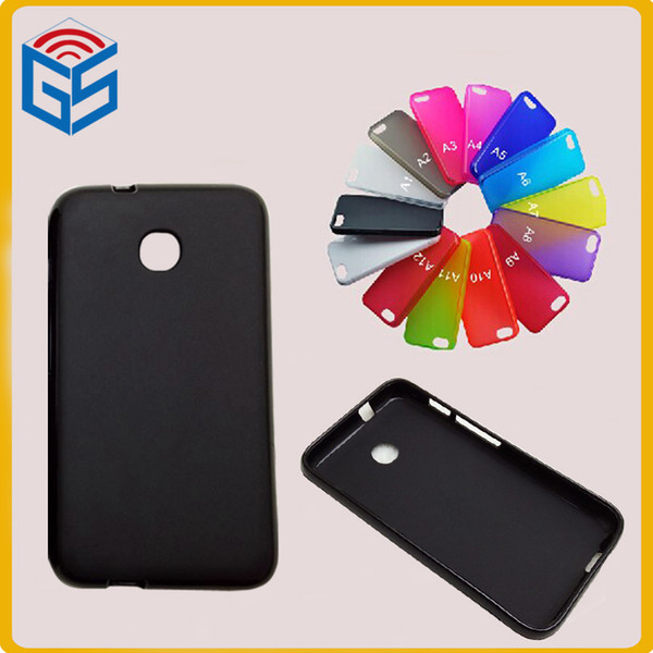 Hot Sale Wholesale Price Matte Soft Skin Pudding TPU Case For Alcatel Pixi Unite A466BG 4.0 inch Back Cover