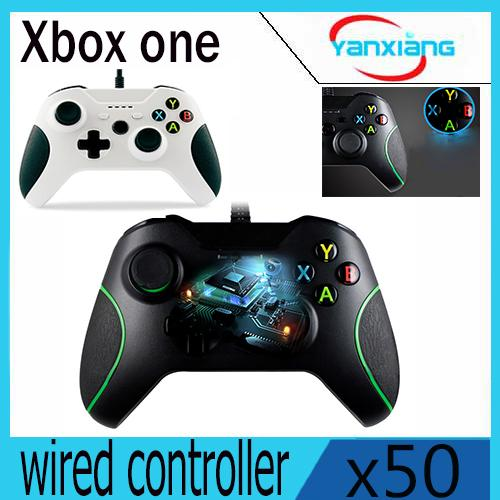 50pcs High Quality White Color Gamepad Joystick + Cable for Windows Xbox one USB Wired Controller YX-OEN-03