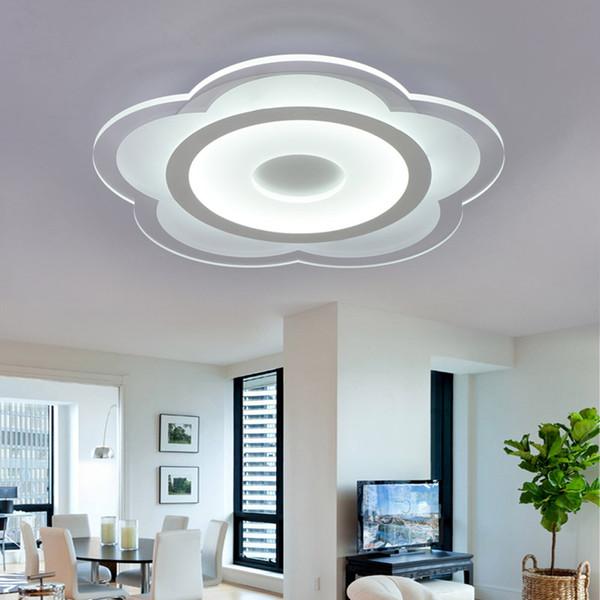 White minimalism ultrathin modern led ceiling light for living room kitchen bedroom bathroom ceiling lamp indoor