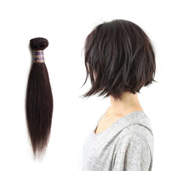 Short Straight Virgin Hair Ombre 2 Tone Color 1B/Burgundy 1B/27 1B/30 Brazilian Hair 50g/bundle Double Weft
