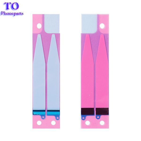 50 UNIDS Batería Etiqueta Adhesiva Tire de la Pestaña Tira Para iPhone 7G 4.7 7 más 5.5 Piezas de Repuesto de Pegamento de Batería