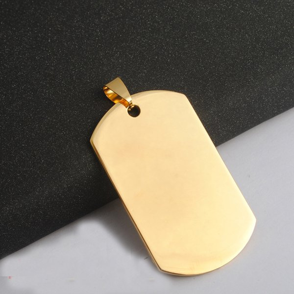 Military Tags Necklace Pendant Stainless Steel Blank Round Love Pendant For Dog Tag Necklace Making Mens Gift Jewelry
