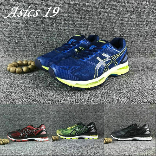 buy popular 002ea a4949 2019 2019 Asics Gel Nimbus 19 Men Running Shoes T700N 9099 9023 Best  Quality Original Sport Sneakers Designer Shoes Size 40 45 From Strive1616,  ...