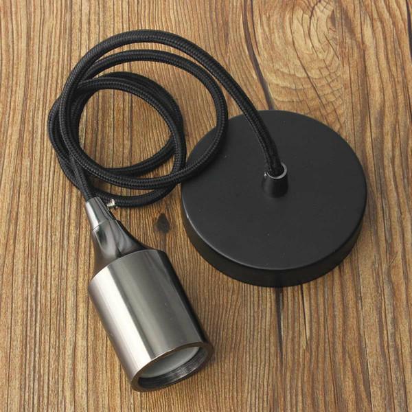 96V-260V E27/E26 Ceiling Light Rose Braided Fabric Copper Pendant Holder Light Hanging Socket Fitting Lamp Bases
