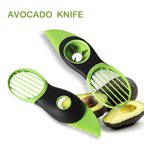 best selling Kitchen Tools Three-In-One Butter Fruit Cut Fruit Knife Set Cut Fruit Kitchen Artifact Avocado Avocado Knife Fruits tools