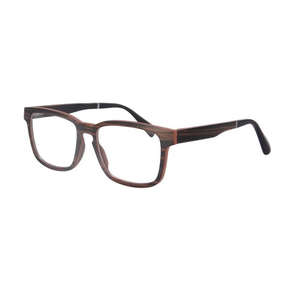 Wholesale- nature wood optical frame prescription glasses myopia eyewear spectacles frame high quality SH73008