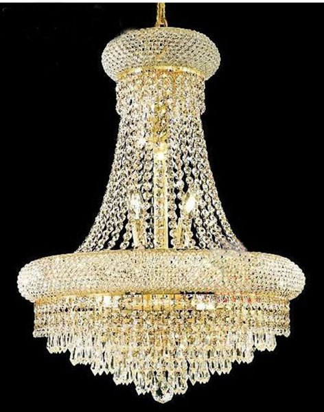Phube Lighting French Empire Gold Crystal Chandelier Lustre Chrome Chandeliers Modern Chandeliers Light Lighting 71022