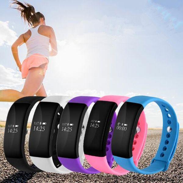 Braccialetto intelligente bluetooth Wristband 0.66 pollici OLED schermo intelligente orologio IP67 impermeabile supporto frequenza cardiaca monitor per iphone Android USZ134