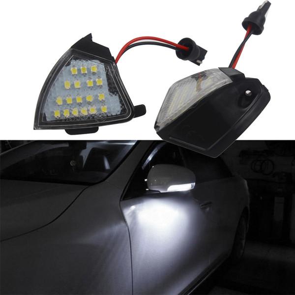 2 Unids 1 set más nuevo 2017 LED Side Charco Puddle Lights No Error para Vw Golf 5 Mk5 MkV Passat b6 Jetta Eos