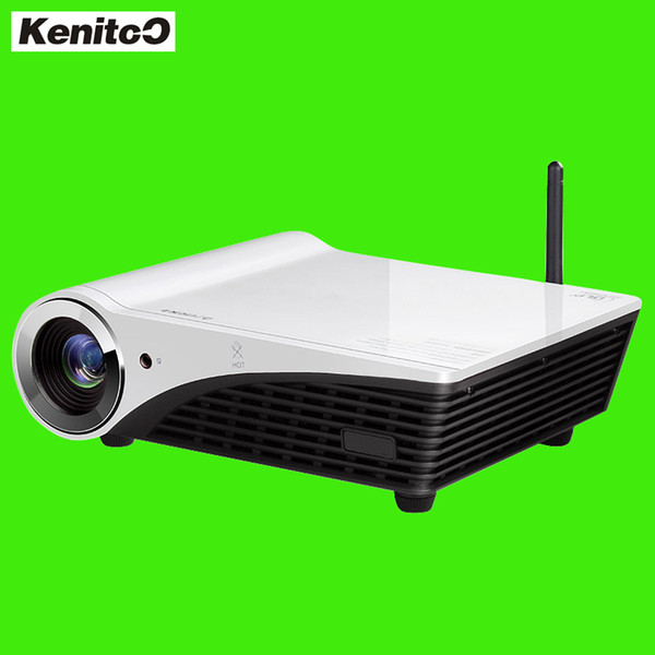 Wholesale- Build-in Win10 System DLP Projector 4K 3D Multi-media Home Theater Projector Full HD Free Shipping