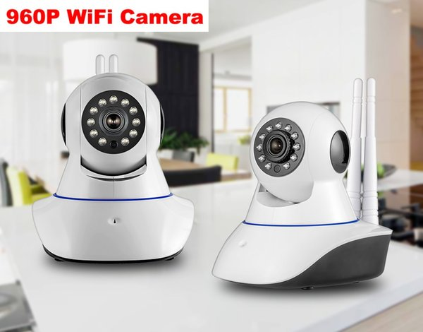 Double antenna Camera wireless IP camera WIFI Megapixel 960p HD indoor Wireless Digital Security CCTV IP Camera + 64G TF memory card 1PCS