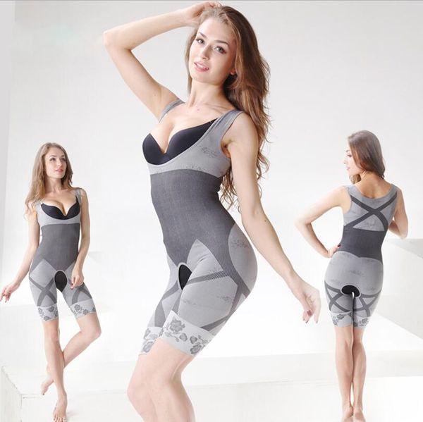 300Pcs 3 colors Women's body shaper High Quality Slim Corset Slimming Suits Bodysuit Shapewear Bamboo Charcoal Sculpting Underwear