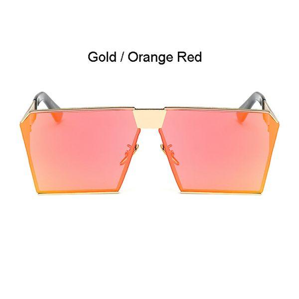 Cadre doré Orange Rouge Lens