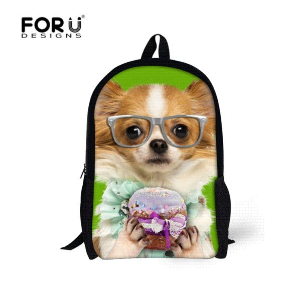 Cute Children Boys Backpack 3d Zoo Animal Bagpack For High School ...