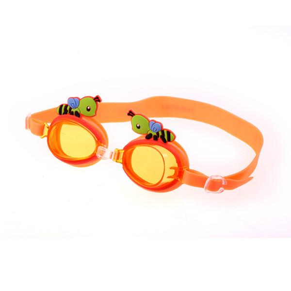 Bambini Swim Goggles Anti Fog Bambini Nuoto Specchio Cute Cartoon Small Bee Occhiali in silicone Protezione UV resistente 7 5hp F