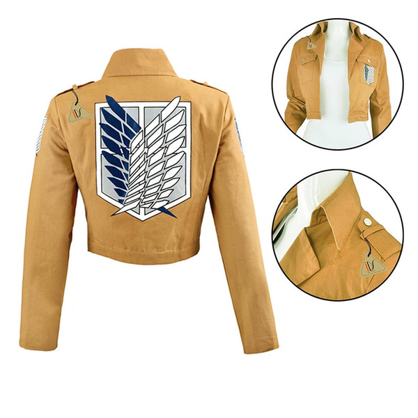 Malidaike Unisex Anime Attack on Titan Recon Corps Jacket Coat Cosplay Costumes Coat Clothes