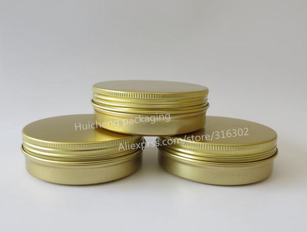 50 x 100g Gold Aluminum Jar, 100cc metal jar for cream powder gel use,100ml aluminum container