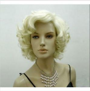Frete grátis encantadora linda nova Melhor Hot Hot vender New Marilyn Monroe Curto Ondulado Completa Perucas de Cabelo Moda Festa Cos
