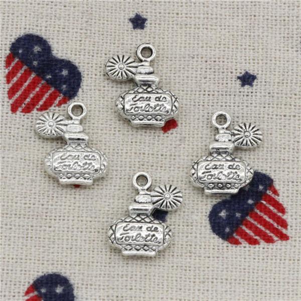 Wholesalecs- 130pcs Charms perfume bottle 17*12mm Pendant,Vintage Tibetan Silver,For DIY Necklace&Bracelets Jewelry Accessories