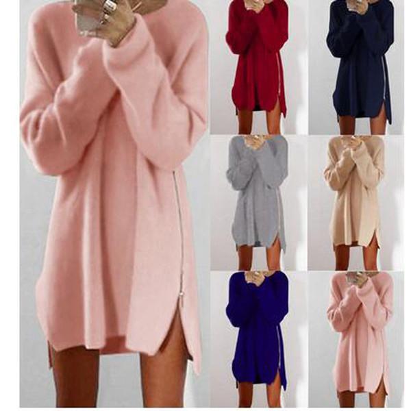 Las señoras al por mayor de la primavera y de la mujer de Summerexy de la manga larga del puente rematan las muchachas de la moda de punto el suéter holgado de gran tamaño de la túnica floja ocasional