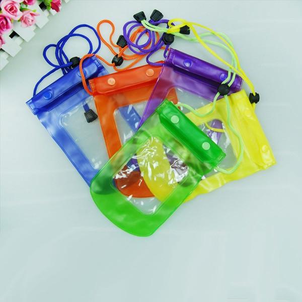 Bolsa de bolsa impermeable transparente cubierta seca para todos los teléfonos móviles con cámara Teléfono móvil bolsa impermeable